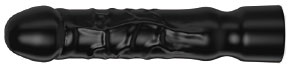 Large black rubber dildo