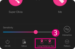 You can choose the Long distance Sex mode when using the Lovense Remote app.