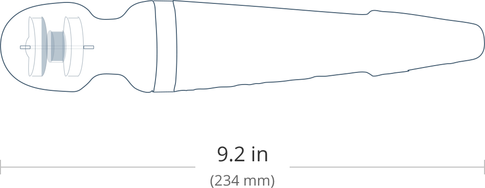 The Dimensions of Domi By Lovense, The Best Wand Vibrator