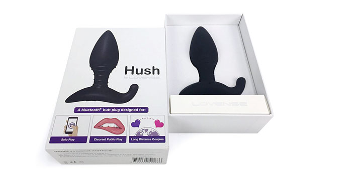 Packaging of Hush by Lovense