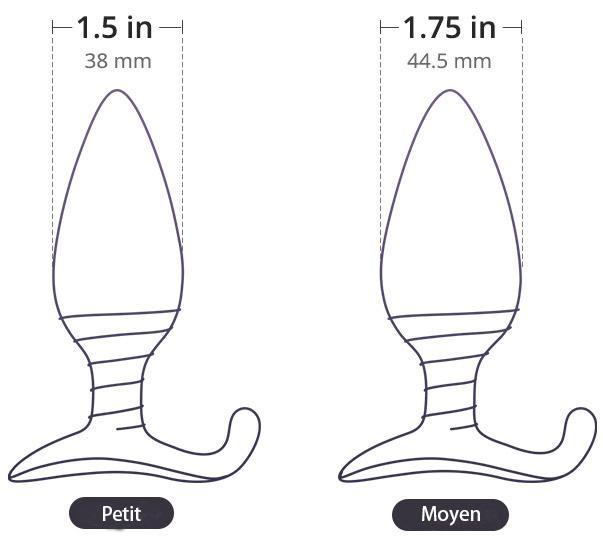 Hush est disponible en deux tailles : 38 mm ou 44.5 mm de diamètre.