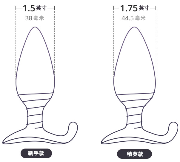 Two Sizes available for the vibrator anal plug