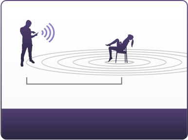 El plug vibrante Hush trabaja hasta 10 pies de distancia mientras sentado.