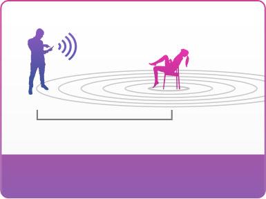 Bluetooth-виброяйцо Lush 2 управляется в радиусе до 3 метров, когда Вы сидите.