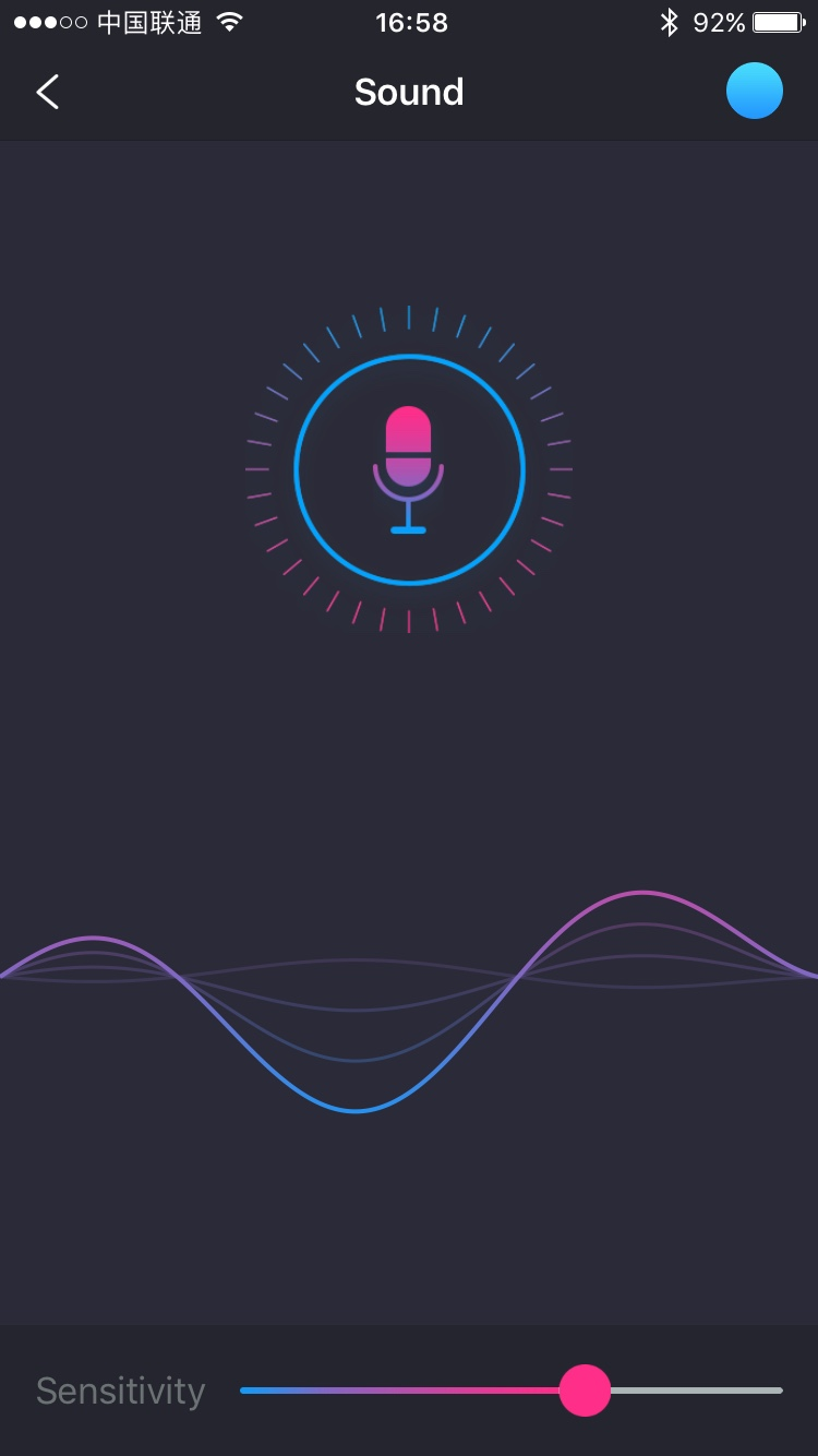The Lovense Remote app screenshot: sound activated.