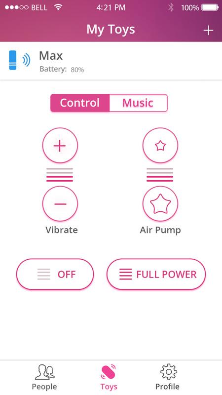 Wireless Bluetooth Sex Toys Controlled Via Free App-8712