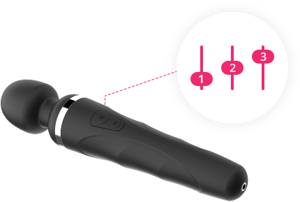 Lovense Remote allows you to customize your vibrations and save up to 10 patterns that will be remembered by Domi's button.